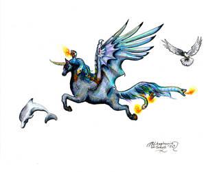 Aganippe Pegasus Unicorn Horse Pony Equine Equus by StephanieSmall