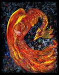 Phoenix Pheonix Bird Fire Firebird Flames Volcano