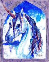 Unicorn Horse Pony equine wing pegasus Head Mare by StephanieSmall