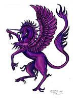 Winged unicorn Moon Cute Horse Pony Pegasus Alicor by StephanieSmall
