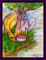 Coven Griffon Unicorn Birthday cake tree nature by StephanieSmall