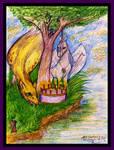 Coven Griffon Unicorn Birthday cake tree nature