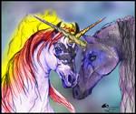 Ebony Star x Malamour unicorn horse pony equine eq