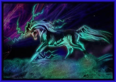Unicorn Lightning Horse Pony Equine Namara by StephanieSmall