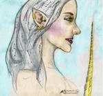Nichelle Woman Fairy Elf Girl Unicorn Horn Lady by StephanieSmall