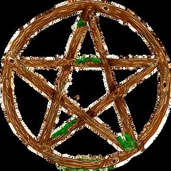 Pentagram Star Pentacle Wood Earth Moss