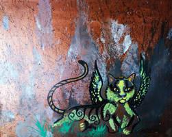 Winged Cat Feline Kitty Kitten Wings by StephanieSmall