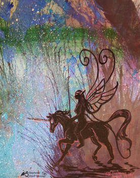 Unicorn Horse Pony Equine Equus Fairy girl Faery
