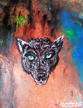 Wolf dog howl sky puppy red blue black hound