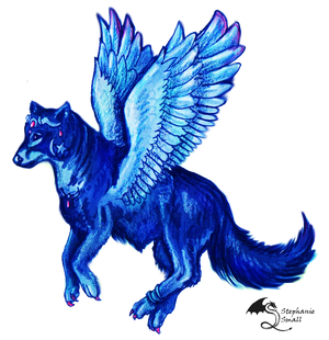 Lupara Winged Wolf Wolves Hound Dog Canine Puppy