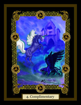 4 Complimentary Unicorn winged panther horse pony