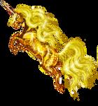 Gold Dapple Yellow Sparkly Unicorn Horse Pony