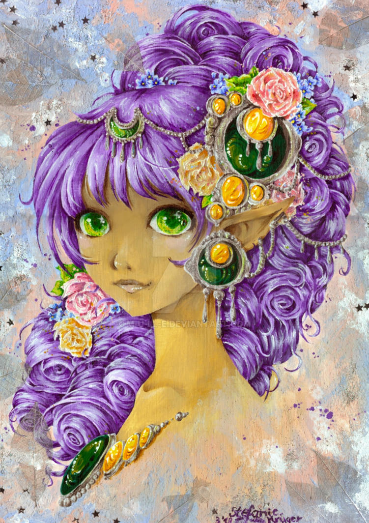 Roses in her hair by m-u-ll-e