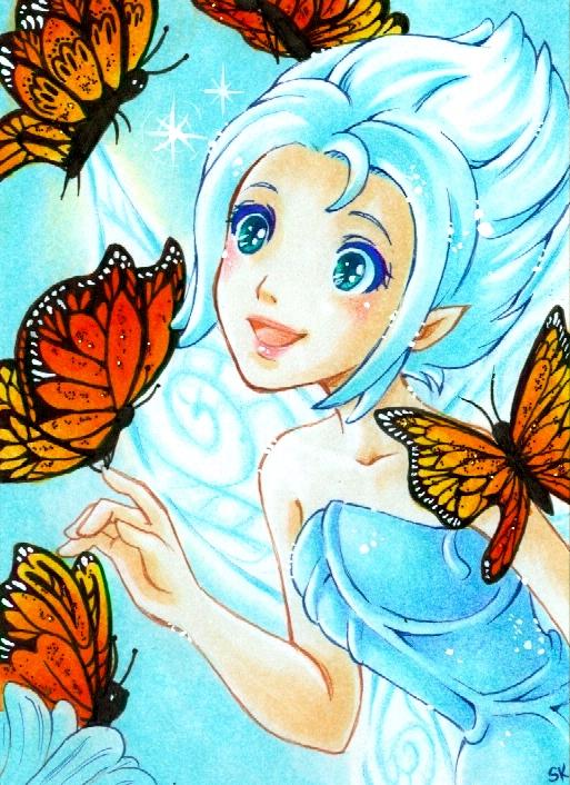 Periwinkle - Butterflies by m-u-ll-e