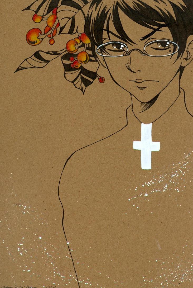 notebook priest by m-u-ll-e