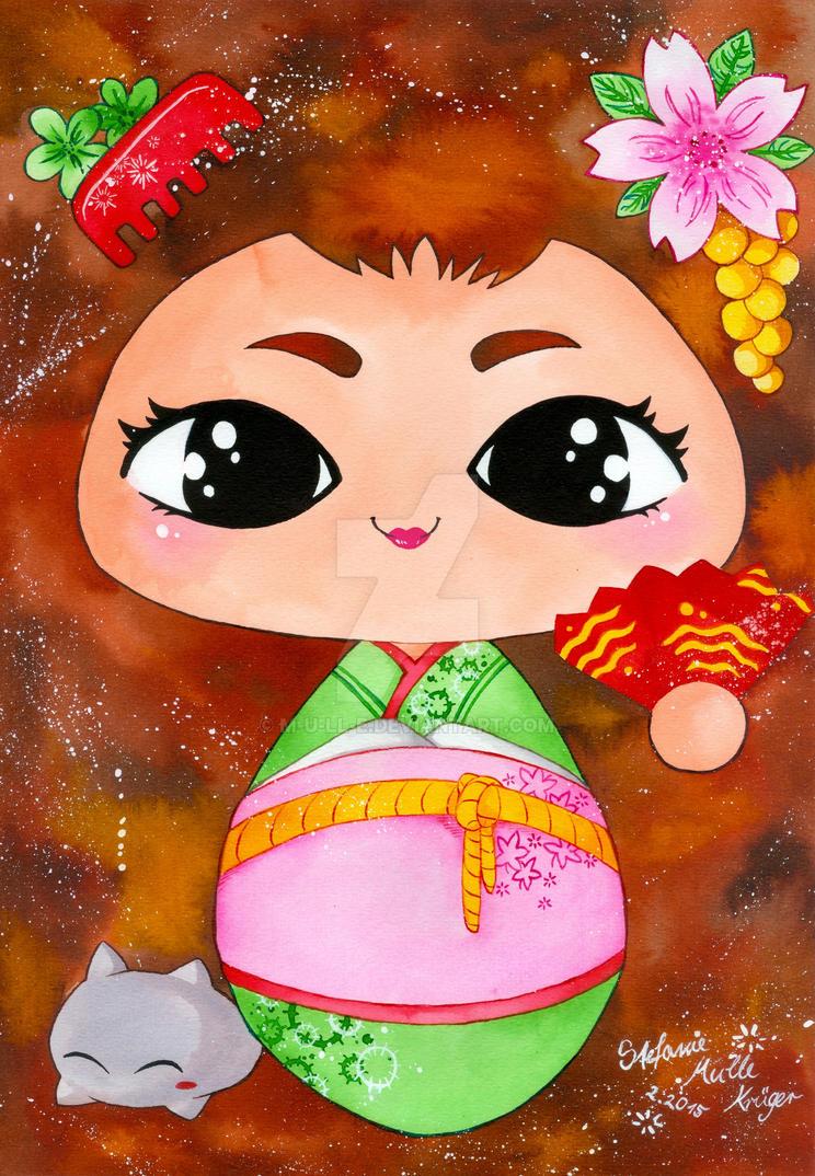 Geisha-Mascot by m-u-ll-e
