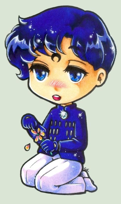 Prince Sapphire Chibi by m-u-ll-e