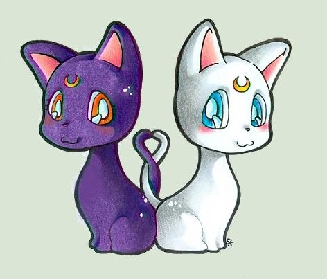 Artemis und Luna Chibi by m-u-ll-e