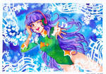 Hanako loves music - commission
