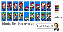 Edited SMW Mario and Luigi by Mamamia64