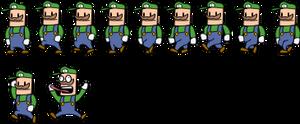 Alien Hominid Styled Luigi (sheet) by Mamamia64