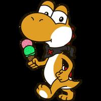Yoshi OC - Roushi with Ice-cream by Mamamia64