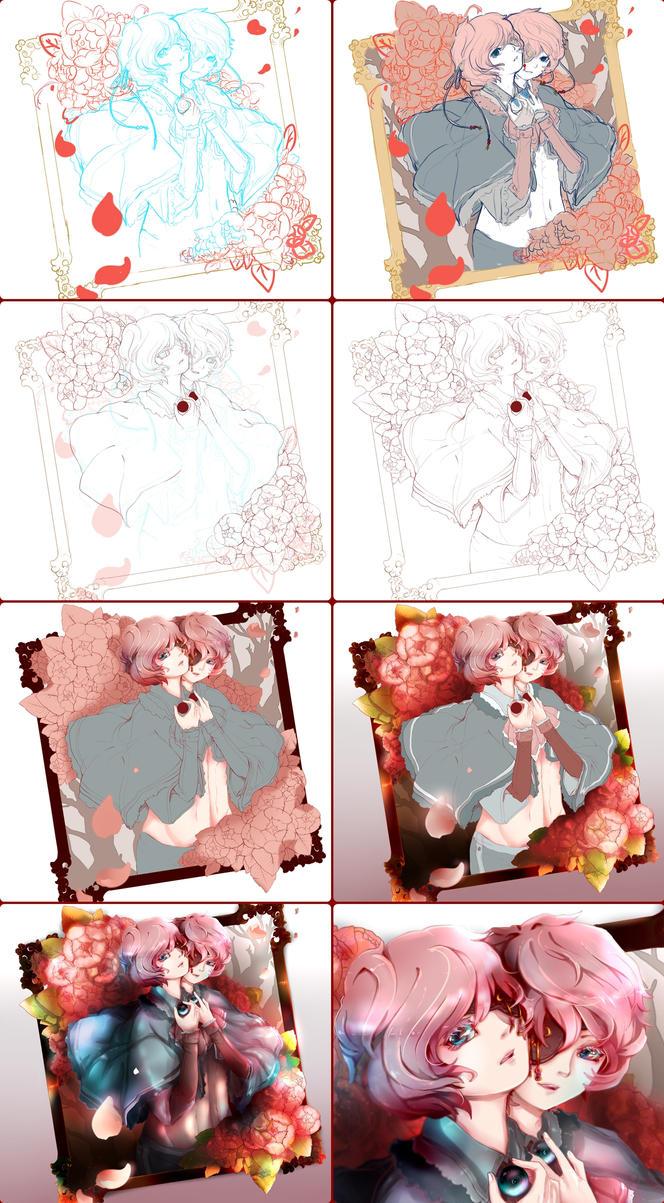 Art Process 1 by tori-ru