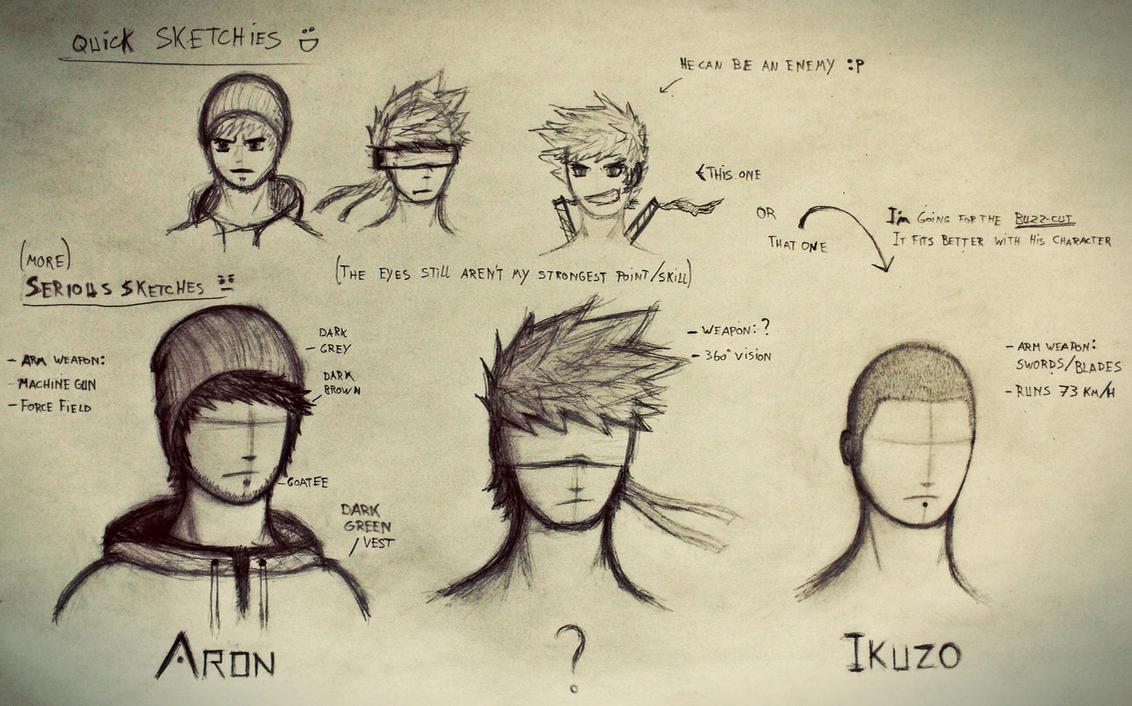 Character Sketch by Ikuzo32