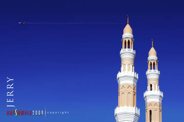 Mosque Twin Tower by jerahmeel2002