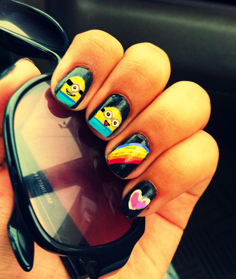 Despicable Me Minion Nail Art by Xyriia on DeviantArt
