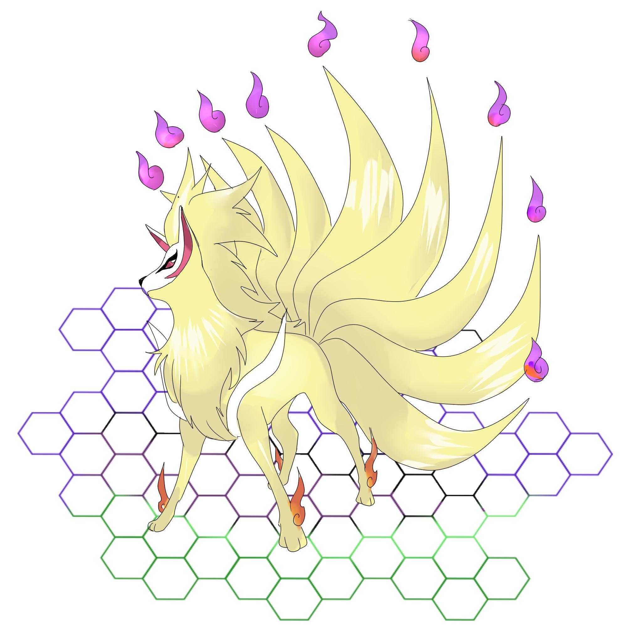 Mega Nine Tails by rapharanker on DeviantArt