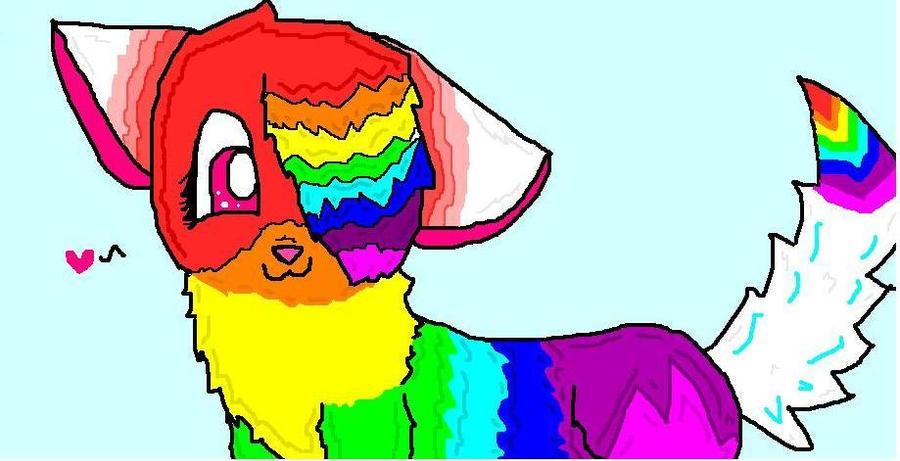 Rainbow Wolf Fursona Name Rqs Needed By Vanillaawolf On