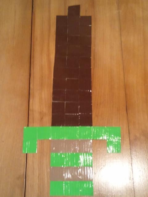 8-bit Wooden Sword by FangirlOfArtsyness