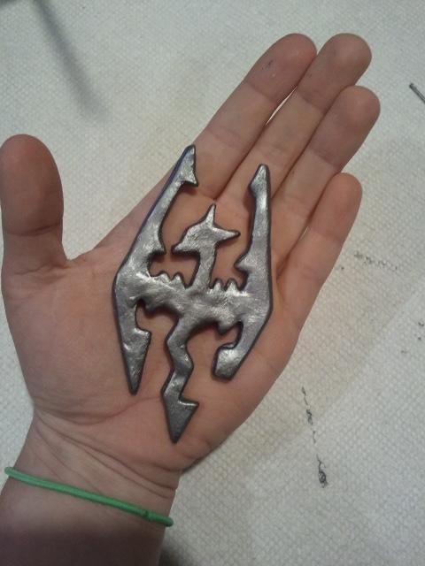 Finished Skyrim Necklace Piece by FangirlOfArtsyness