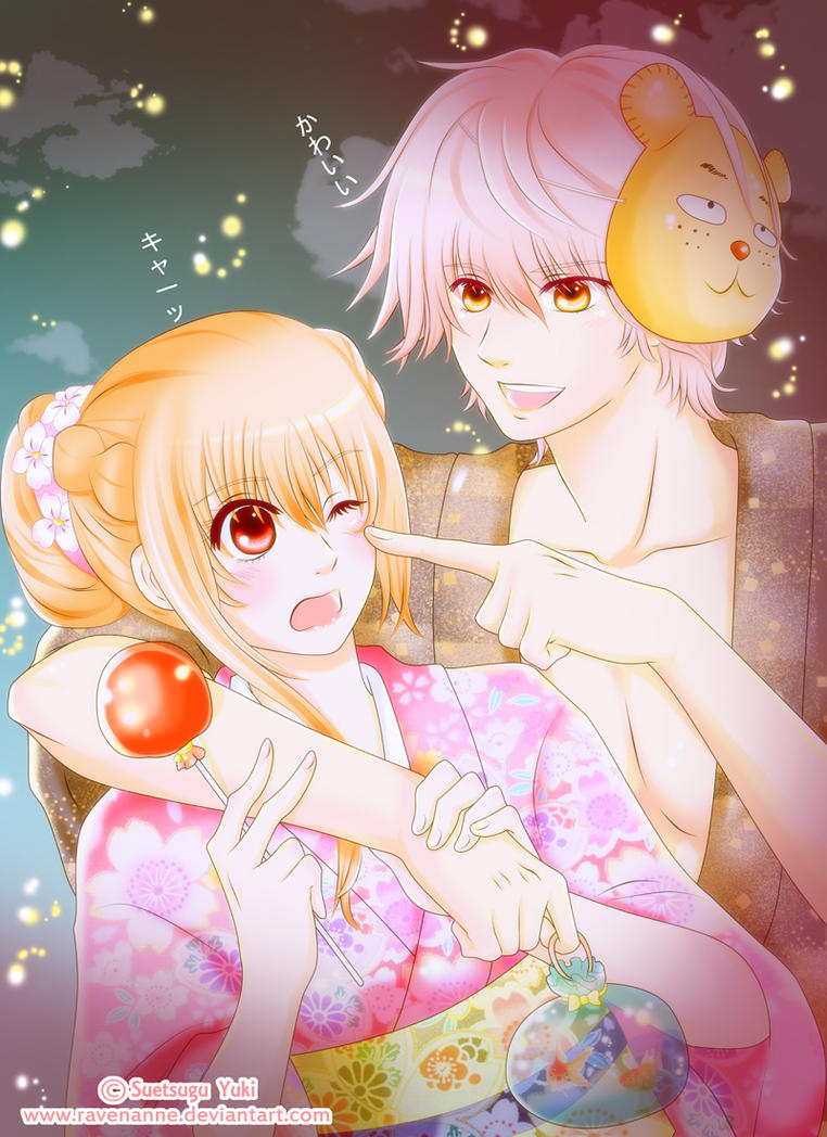 Chihayafuru: Taichi and Chihaya at the Festival by ravenanne