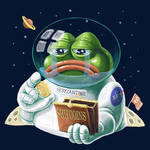 Pepe The Sad Bitcoin Astronaut