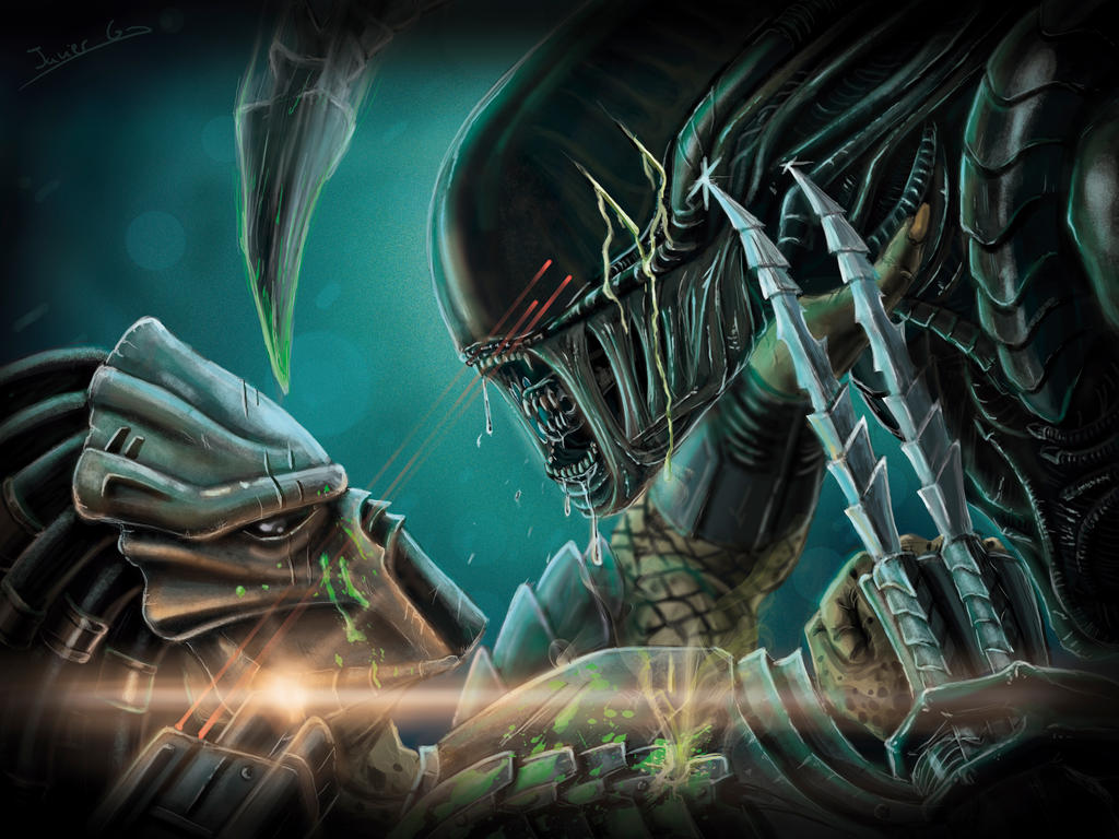 aliens vs predator drawings - photo #11