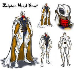 Zelphon Model Sheet 2 by SinclairPro