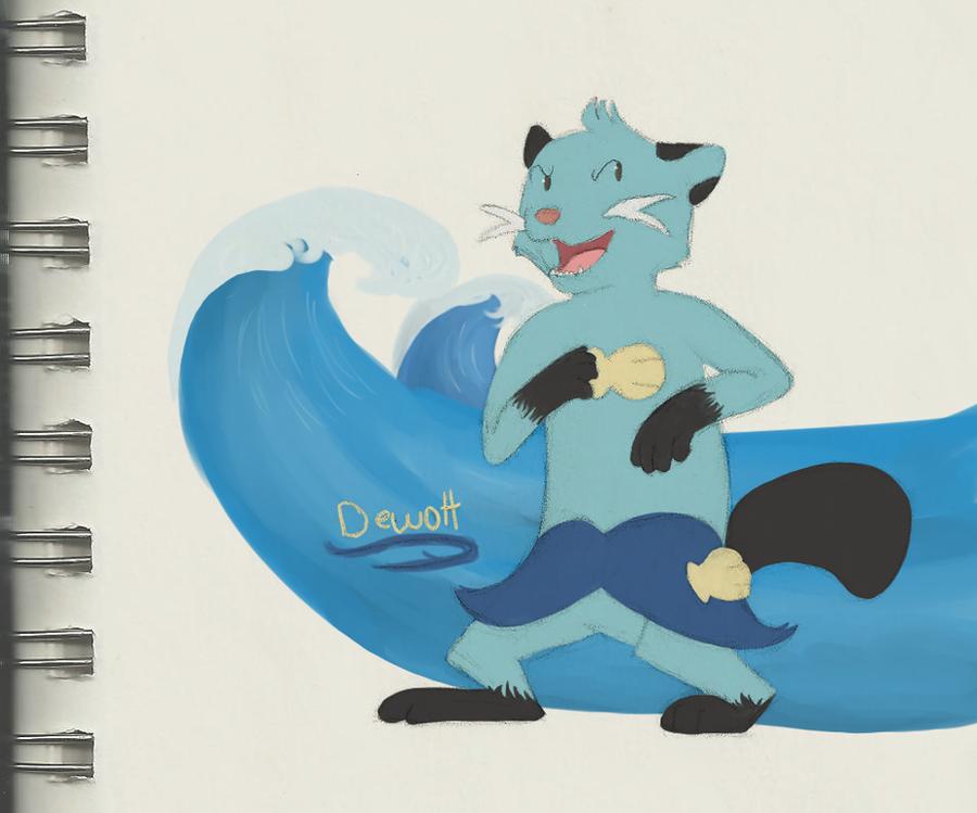 Dewott doodle by Jekal...