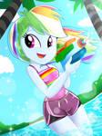 Summer fun with Rainbow Dash!