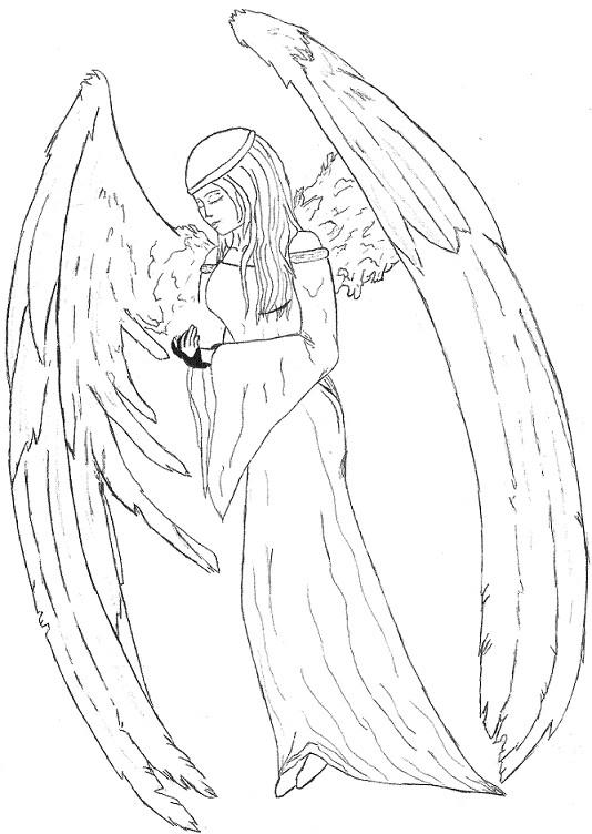 Line Art Angel : Angel s prayer line art by ultimatesxrfan on deviantart
