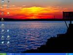 Desk Top: dock sunset