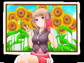 Akane - Sunflowers by Iormi