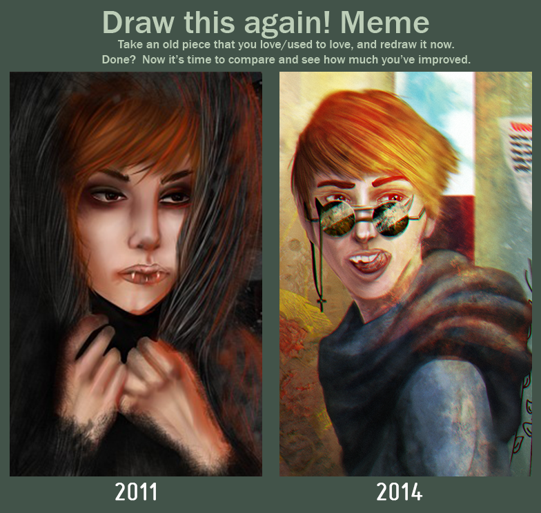 Draw this again meme by LunioSky