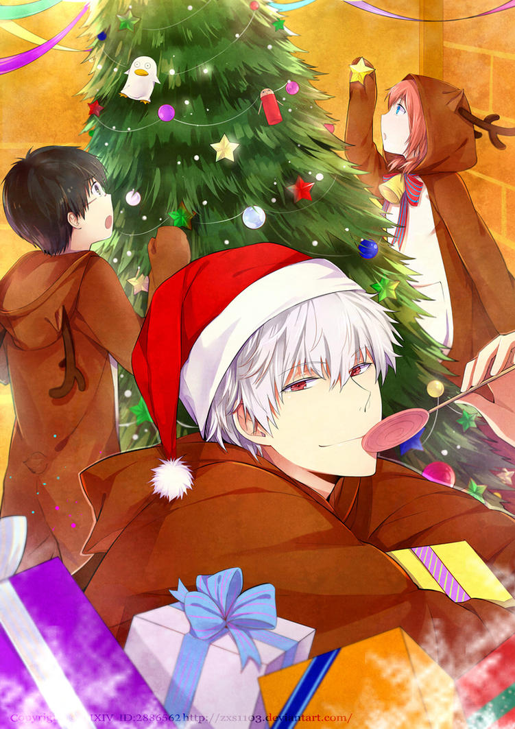 Gintama--- 2012 Merry Christmas by zxs1103