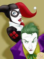 Joker + Harley Quinn by AmandaRachels