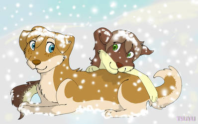 Playing in the snow by TefFox