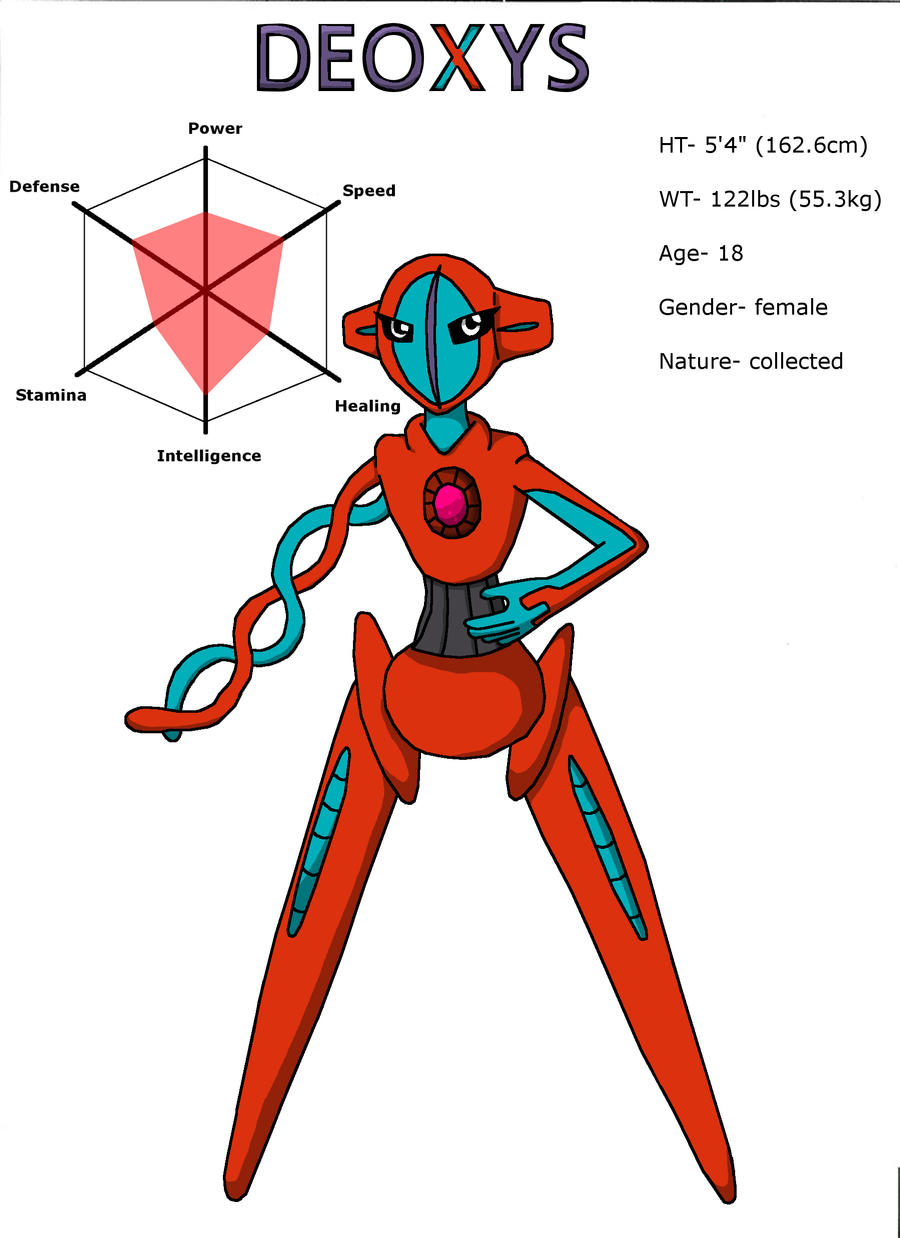 Deoxys Character Sheet By Cataclyptic On Deviantart