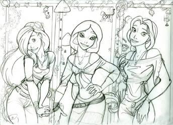 Fashion Princesses-- Fanart by Trounced