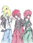 Gaara, deidara, and Sasori